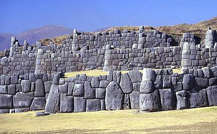 Similar megalithic blocks found on Earth: Fortress of Sacsayhuaman, Cuzco, Peru