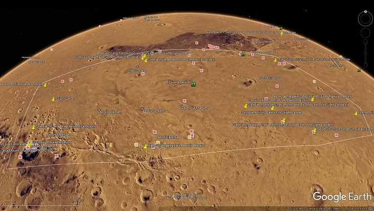Elysium Planitia Outlined (click for larger image)