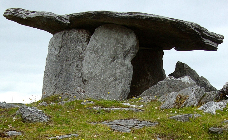 Similar Artifact found on Earth: Poulnabrone Dolmen, County Clare, Ireland