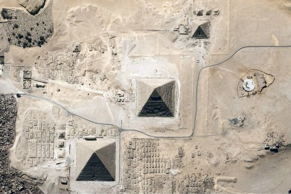 The three Pyramids in Giza (source: exress.co.uk)