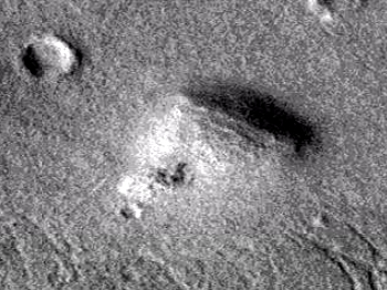 Triangular pyramid on Martian surface – Pyramid one