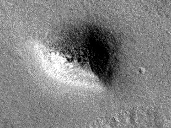 Triangular pyramid on Martian surface – Pyramid two