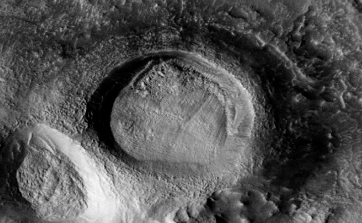 Martian crater anomaly - one