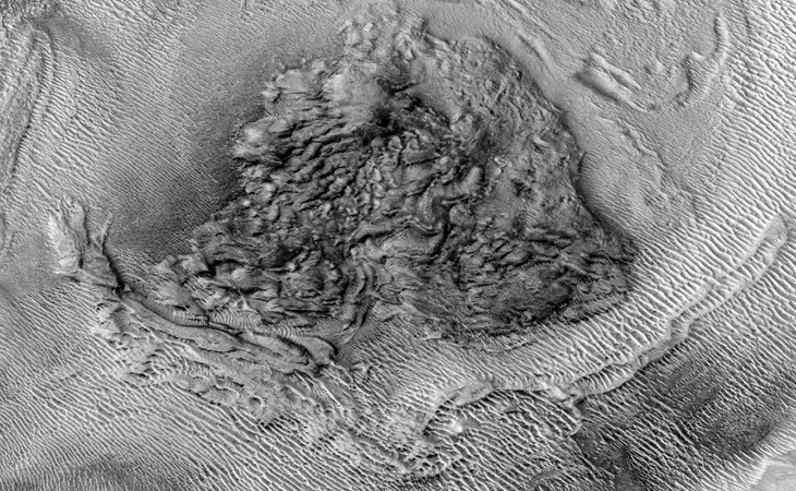 Martian crater anomaly - two