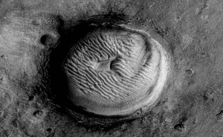 Martian crater anomaly - three