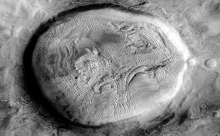 Martian crater anomaly - four
