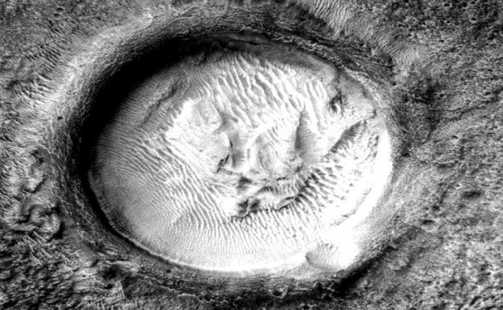 Martian crater anomaly - five