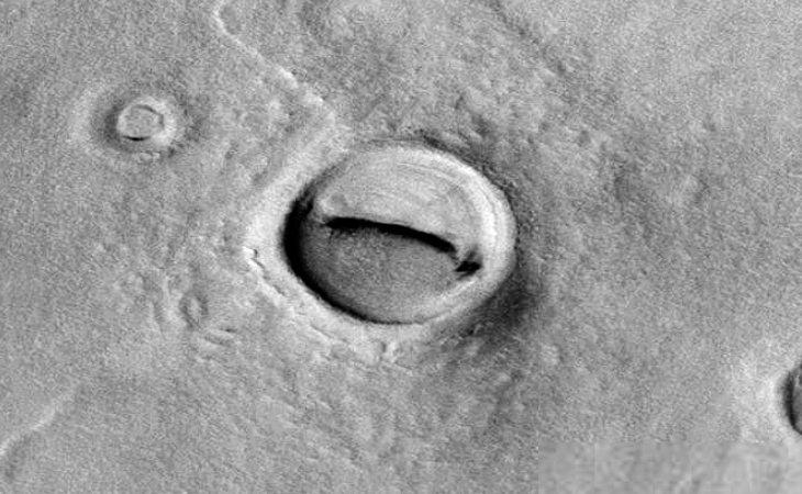 Martian crater anomaly - six