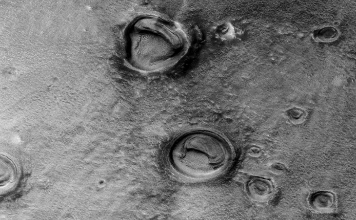 Martian crater anomaly - seven