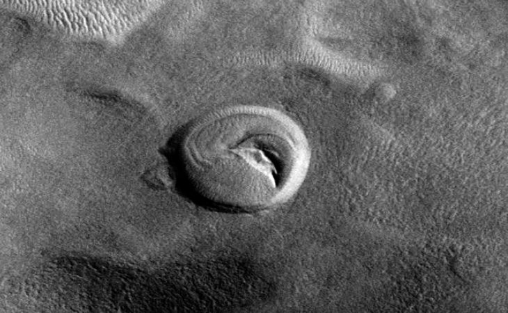 Martian crater anomaly - eight