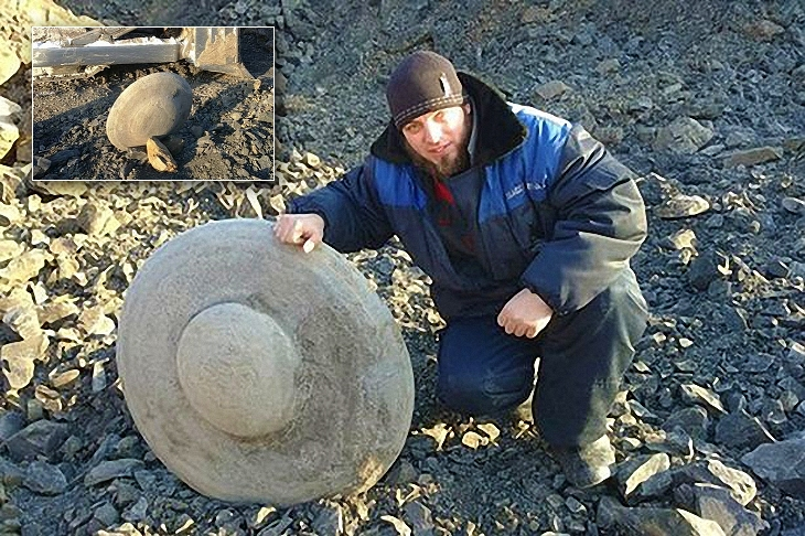 Carved stone discs found on Earth, Medveditskaya ridge region, Volgograd