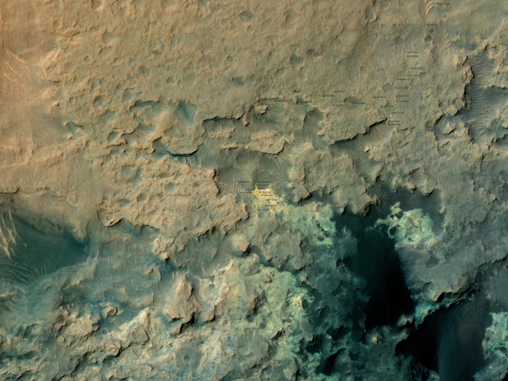 Curiosity's location in Sol 844 (click for larger image)