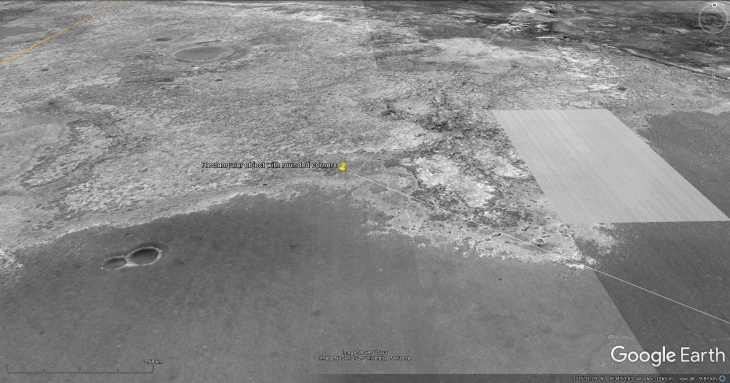 Google Earth Mars Elevated View