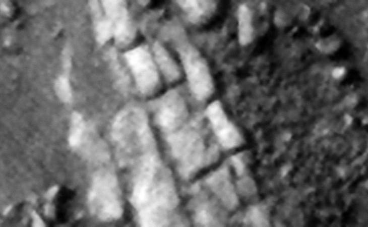 Rows of megalithic blocks