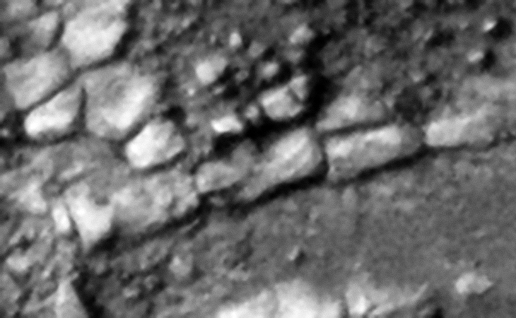 Row of rectangular megalithic blocks