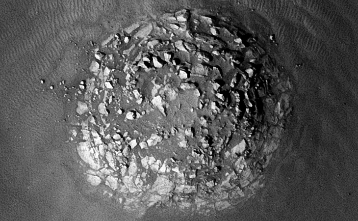 Circular structure ruins, is this perhaps a collapsed dome-like structure or another 'Stonehenge'-type structure?