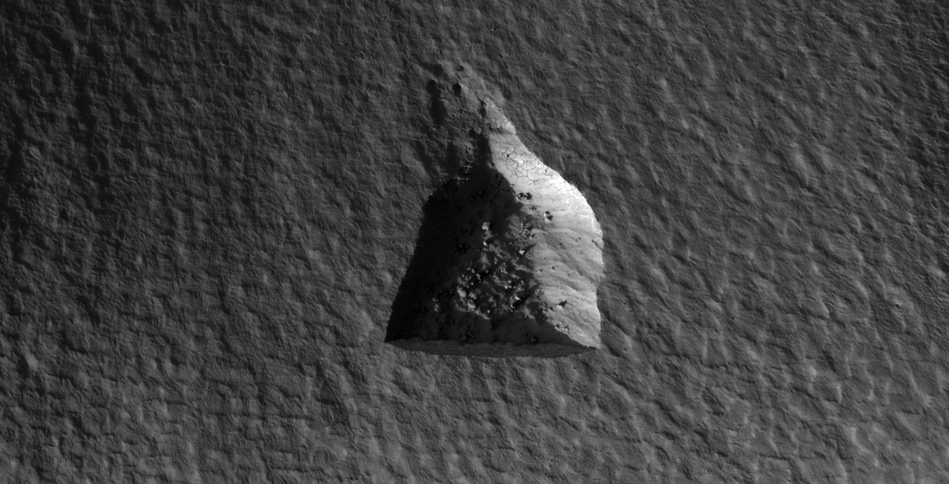 Mine or Strange Geometric Shape Carved Into Martian Surface (ESP_020286_2350)