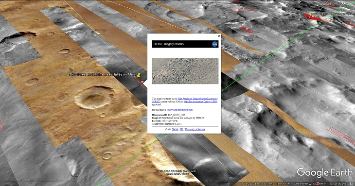 An elevated view of this site being analyzed