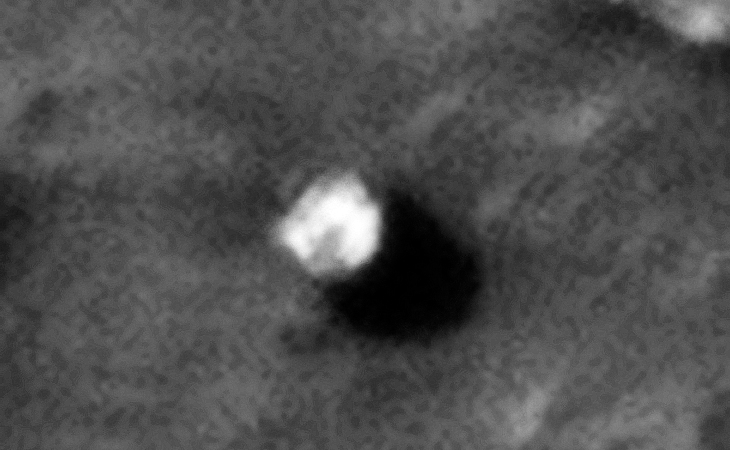 Another Weird Craft embedded in Martian Surface or Boulder?