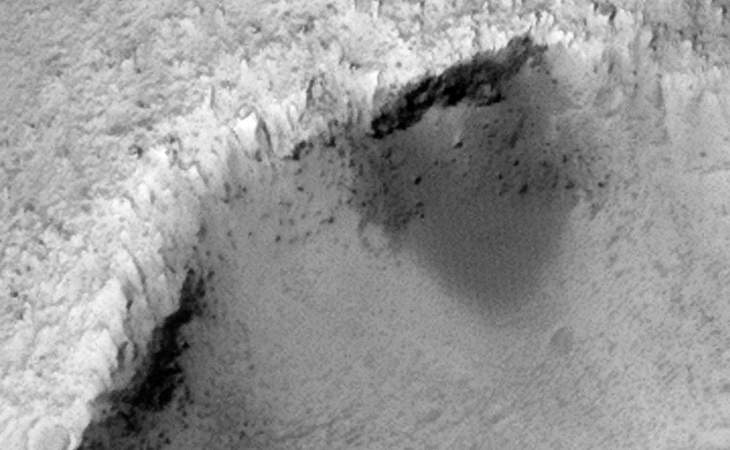 Evidence of Liquid Flow or 'Other' Activity on Crater Wall?