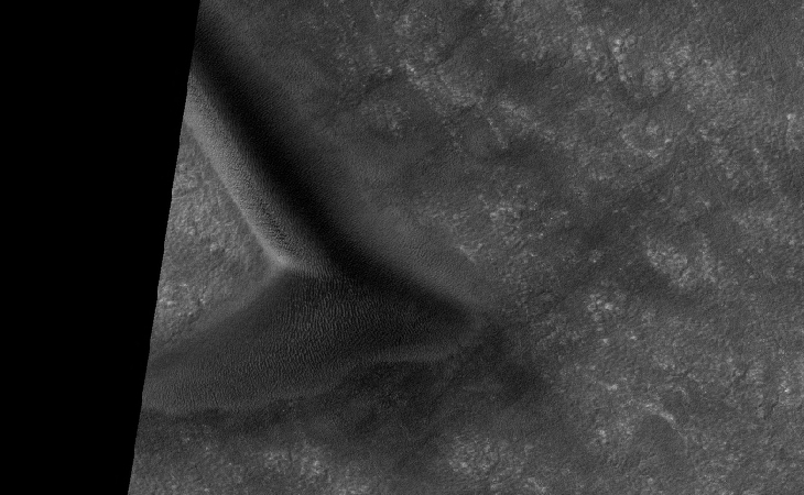 Mysterious crashed craft found in South Polar region on Mars