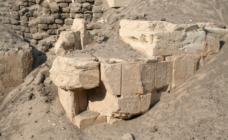Hawara Pyramid inner core limestone blocks external veneer
