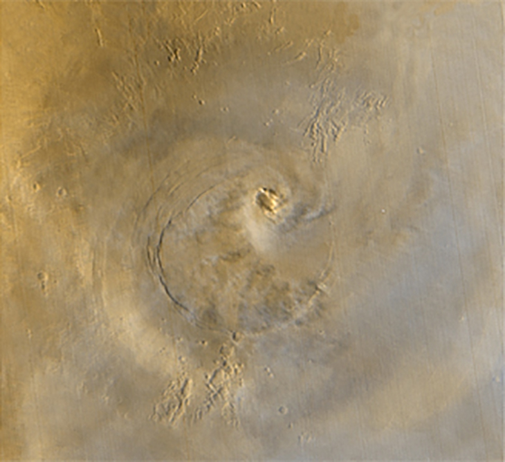 Cloud formation photographed by Mars Global Surveyor on 24 April 2003, Source: NASA
