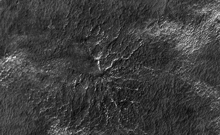 Mars 'Spiders' possibly covered in Plant Life - Zoom I