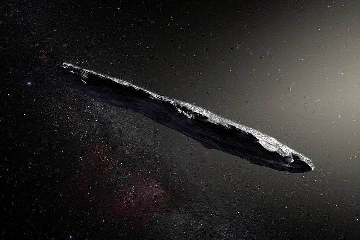Artists impression of Oumuamua, Source: standard.co.uk