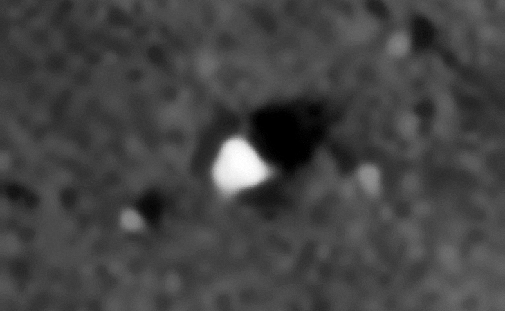 Hollow triangular shaped object