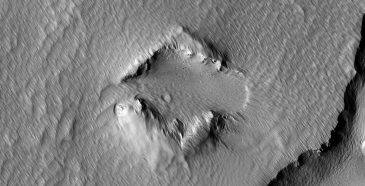 Ancient Chevron-Shaped Ruin found on Mars (PSP_002671_1790 - Zoomed Out)
