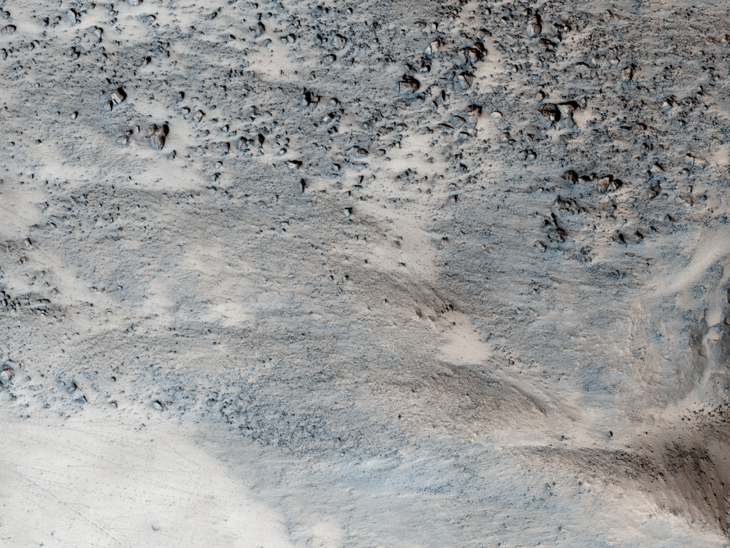 A colour strip from the JP2 showing possible evidence of liquid water flow in the distant past