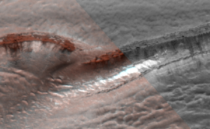 Is this evidence of manipulation in Mars HiRise photograph?