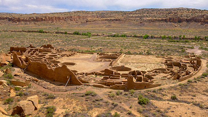 Puebloan ruins at Chaco Canyon