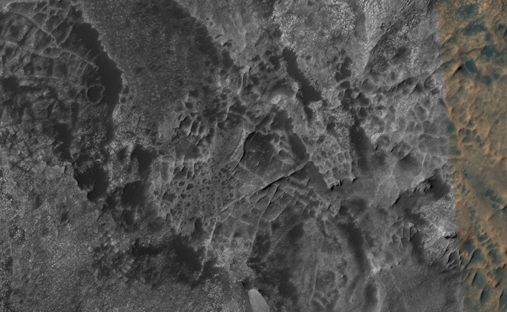 Puebloan city ruins on Mars