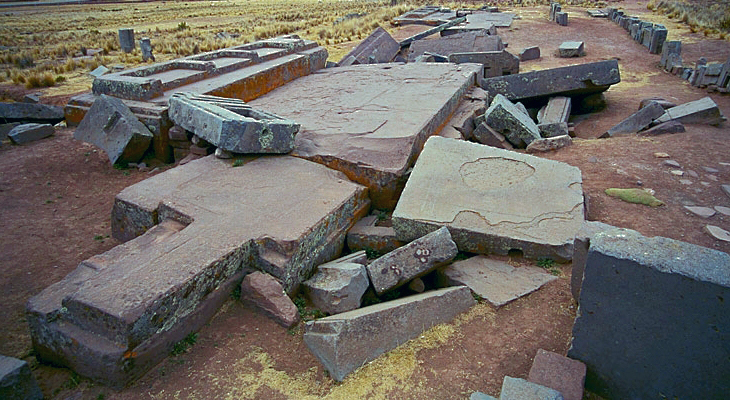 Similar megalithic stone ruins found on Earth: Pumapunku Ruins, Bolivia