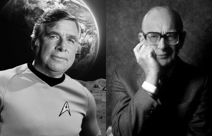 Eugene Roddenberry and Sir Arthur C. Clarke
