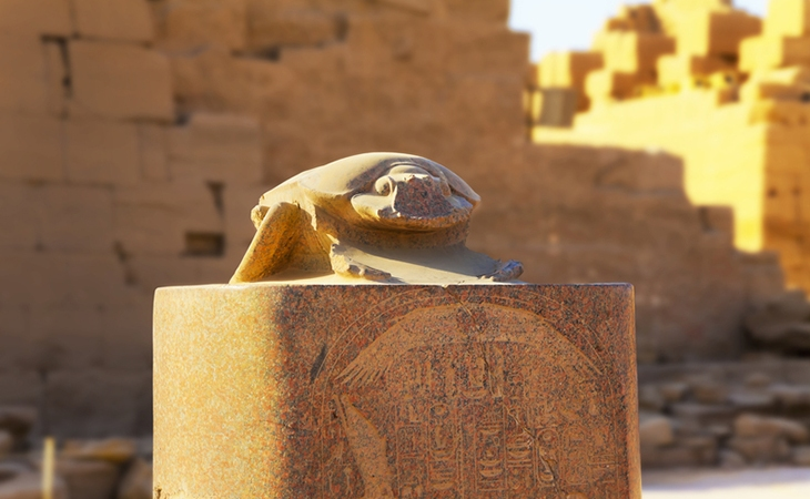 Scarab Beetle Sculpture: Karnak Temple Complex Egypt