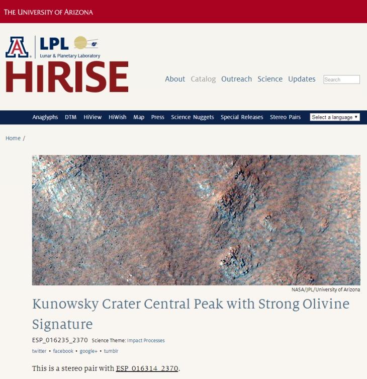 Kunowsky Crater