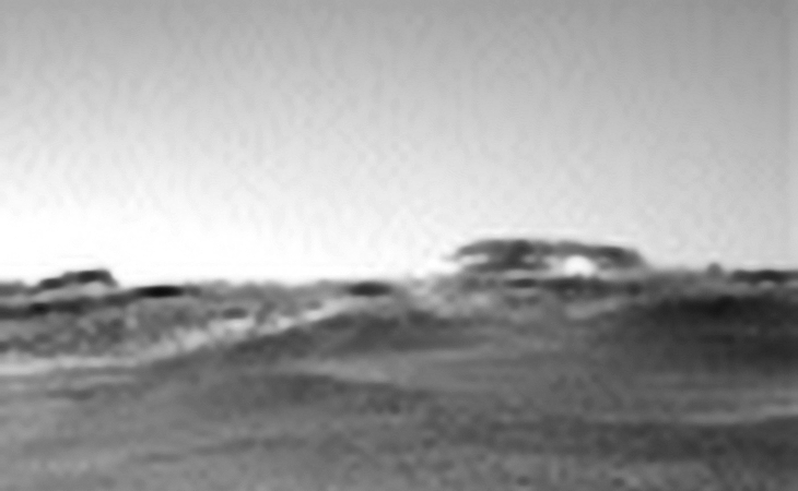 Object in Sol 2432 (click for larger image, not to scale)