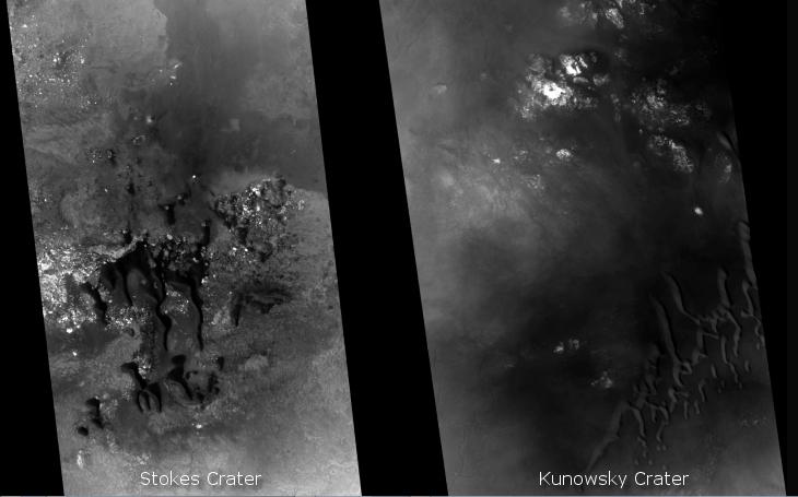 Similarities between Stokes Crater and Kunowsky Crater