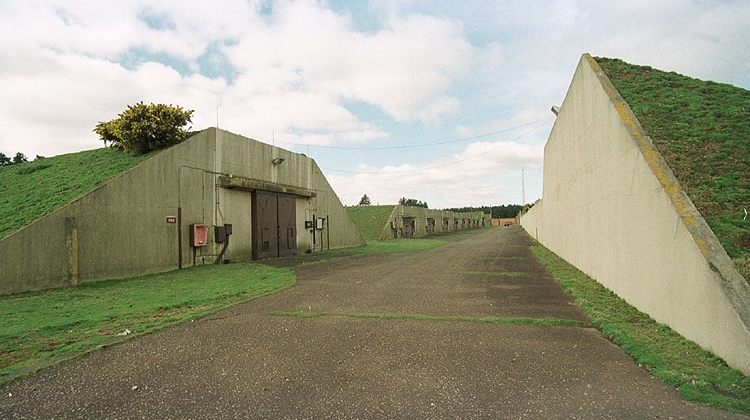 RAF Woodbridge Bunkers covered in grass