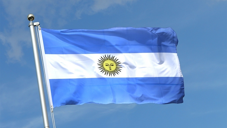 Argentina Flag - Source: flagstat.net