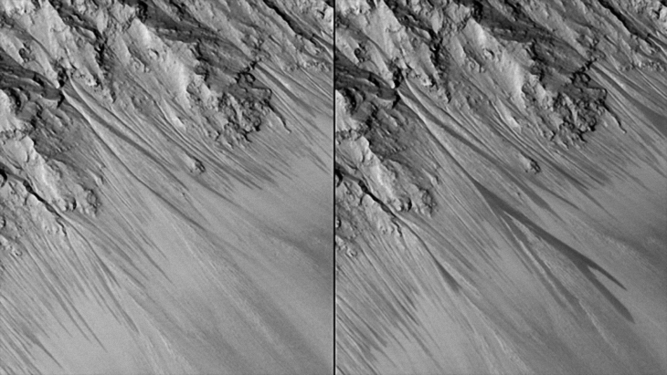 Flowing water on Mars