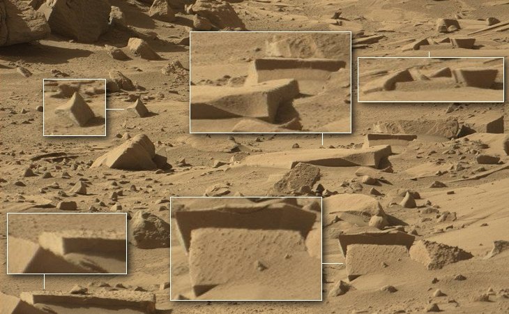 Ancient megalithic stone ruins on Mars