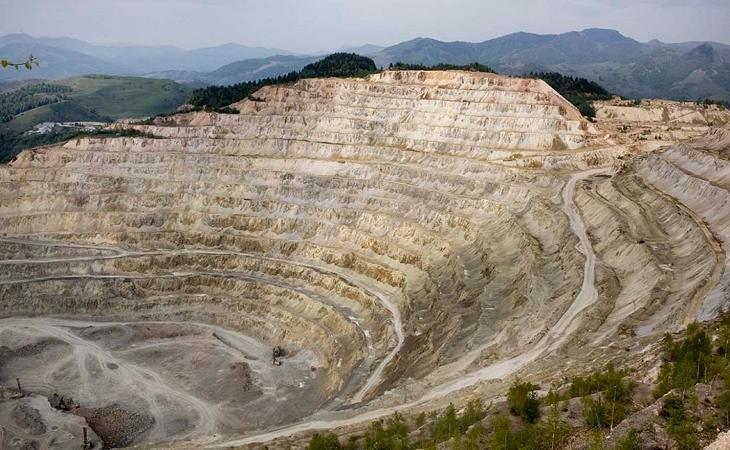 Open pit of Rosia Poieni Montana
