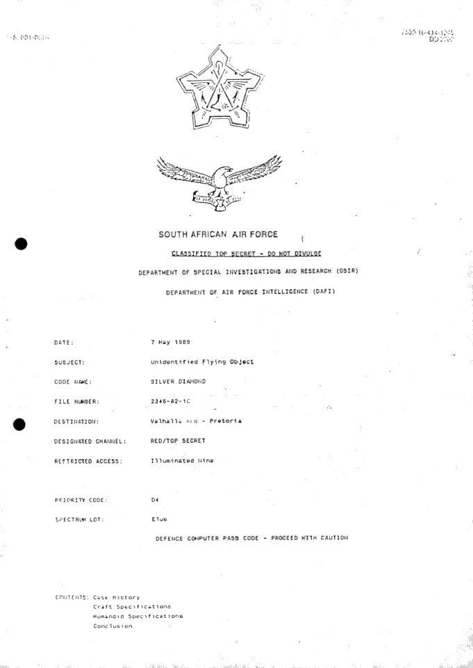 The SAAF Intelligence Report