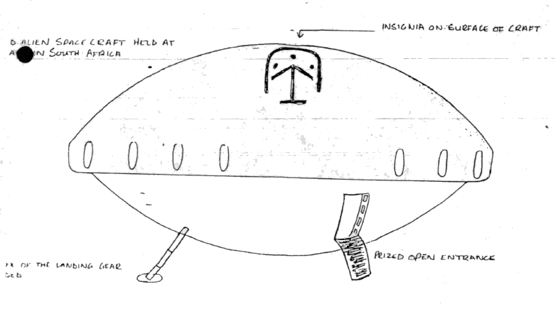 Depiction of the craft from the SAAF Intelligence Report