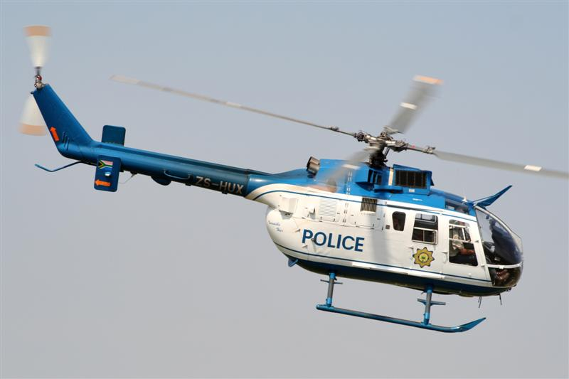 South African Police Bo-105 Chopper - Source: surfacezero.com