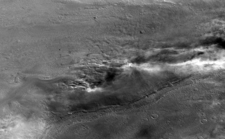 Is this burning vegetation on Mars?
